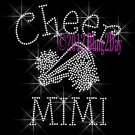 Cheer MIMI - C Rhinestone Iron on Transfer Hot Fix Bling Sports - DIY