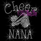 Cheer NANA - C Rhinestone Iron on Transfer Hot Fix Bling Sports - DIY
