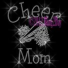 Cheer Mom - C Rhinestone Iron on Transfer Hot Fix Bling Sports - DIY