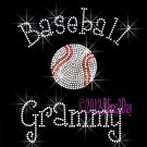 Baseball Grammy - C Rhinestone Iron on Transfer Hot Fix Bling Sports - DIY
