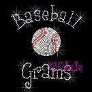 Baseball Grams - C Rhinestone Iron on Transfer Hot Fix Bling Sports - DIY
