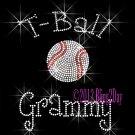 T-Ball Grammy - C Rhinestone Iron on Transfer Hot Fix Bling Sports - DIY