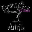 Gymnastics Aunt - C Rhinestone Iron on Transfer Hot Fix Bling Sports - DIY
