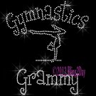 Gymnastics Grammy - C Rhinestone Iron on Transfer Hot Fix Bling Sports - DIY