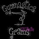 Gymnastics Grams - C Rhinestone Iron on Transfer Hot Fix Bling Sports - DIY