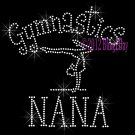 Gymnastics NANA - C Rhinestone Iron on Transfer Hot Fix Bling Sports - DIY