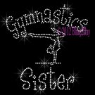Gymnastics Sister - C Rhinestone Iron on Transfer Hot Fix Bling Sports - DIY