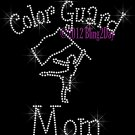 Color Guard Mom - C Rhinestone Iron on Transfer Hot Fix Bling Sports - DIY