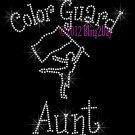 Color Guard Aunt - C Rhinestone Iron on Transfer Hot Fix Bling Sports - DIY