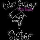 Color Guard Sister - C Rhinestone Iron on Transfer Hot Fix Bling Sports - DIY