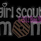 Girl Scout Mom - Rhinestone Iron on Transfer Hot Fix Bling Cookies - DIY
