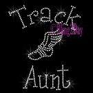 Track Aunt - C - Rhinestone Iron on Transfer Hot Fix Bling School Sport - DIY