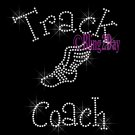 Track Coach - C - Rhinestone Iron on Transfer Hot Fix Bling School Sport - DIY