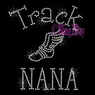 Track NANA - C - Rhinestone Iron on Transfer Hot Fix Bling School Sport - DIY