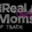 The Real Moms of - TRACK - Rhinestone Iron on Transfer Hot Fix Bling School Sport - DIY