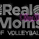The Real Moms of - VOLLEYBALL - Rhinestone Iron on Transfer Hot Fix Bling School Sport - DIY