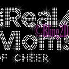The Real Moms of - CHEER - Rhinestone Iron on Transfer Hot Fix Bling School Sport - DIY