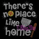 There Is No Place Like Home - SOFTBALL Plate & Bat - Iron on Rhinestone Transfer Sport Mom - DIY