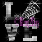 LOVE - Cheer - 2 Line Version - Iron on Rhinestone Transfer Sport Mom - DIY