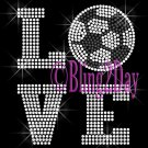 LOVE - Soccer - 2 Line Version - Iron on Rhinestone Transfer Sport Mom - DIY