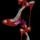 High Heel Set - RED - Iron on Rhinestone Transfer Fashion Diva - DIY