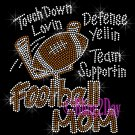 Football Mom - Touch Down, Support Team - Iron on Rhinestone Transfer Sport Mom - DIY