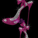 High Heel Set - HOT PINK - Iron on Rhinestone Transfer Fashion Diva - DIY