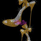 High Heel Set - GOLD - Iron on Rhinestone Transfer Fashion Diva - DIY