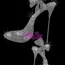 High Heel Set - SILVER - Iron on Rhinestone Transfer Fashion Diva - DIY