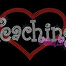 Love Teaching - Red Heart - Iron on Rhinestone Transfer Hot Fix Bling Teacher - DIY