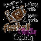 Football Coach - Touch Down, Support Team - Iron on Rhinestone Transfer Sport Mom - DIY