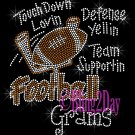 Football Grams - Touch Down, Support Team - Iron on Rhinestone Transfer Sport Mom - DIY