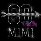 Cross Country MIMI - C - Rhinestone Iron on Transfer Hot Fix Bling School Sport - DIY