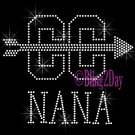 Cross Country NANA - C - Rhinestone Iron on Transfer Hot Fix Bling School Sport - DIY