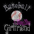 Baseball Girlfriend - C Rhinestone Iron on Transfer Hot Fix Bling Sports - DIY