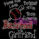Baseball Girlfriend - Home Run, Support Team - Iron on Rhinestone Transfer Sport Mom - DIY
