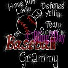 Baseball Grammy - Home Run, Support Team - Iron on Rhinestone Transfer Sport Mom - DIY