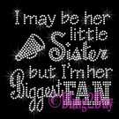 Cheer Fan - HER Little Sister - Iron on Rhinestone Transfer Sports - DIY