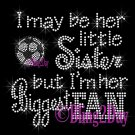 Soccer Fan - HER Little Sister - Iron on Rhinestone Transfer Sports - DIY
