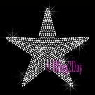 Large Star - CLEAR - Rhinestone Iron on Transfer Hot Fix - DIY