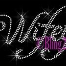 Wifey - CLEAR - Rhinestone Iron on Transfer Hot Fix Bling Bridal Bride Series - DIY
