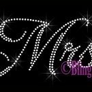 Mrs - CLEAR - Rhinestone Iron on Transfer Hot Fix Bling Bridal Bride Series - DIY