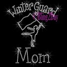 Winter Guard Mom - C Rhinestone Iron on Transfer Hot Fix Bling Sports - DIY