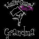 Winter Guard Grandma - C Rhinestone Iron on Transfer Hot Fix Bling Sports - DIY