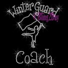 Winter Guard Coach - C Rhinestone Iron on Transfer Hot Fix Bling Sports - DIY