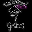 Winter Guard Grams - C Rhinestone Iron on Transfer Hot Fix Bling Sports - DIY