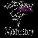 Winter Guard Meemaw - C Rhinestone Iron on Transfer Hot Fix Bling Sports - DIY
