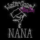 Winter Guard NANA - C Rhinestone Iron on Transfer Hot Fix Bling Sports - DIY