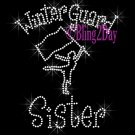 Winter Guard Sister - C Rhinestone Iron on Transfer Hot Fix Bling Sports - DIY
