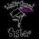 Winter Guard Sister - C Rhinestone Iron on Transfer Hot Fix Bling Sports - DIY